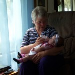 Grandma Fallick and Baby.